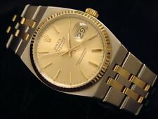 Rolex Datejust Oysterquartz 17013 Stainless Steel 18K Gold Watch Champagne