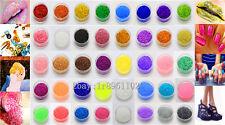 40 Color 10g Full Nail GLITTER Sequins crafts DIY makeup Powder Crystals 1 Pack