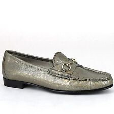 Gucci 1953 Horse bit Loafer Cracked Leather Flats Loafers SHOES 40 US 10