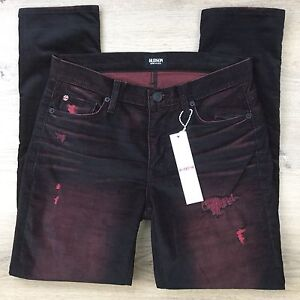 Hudson Jude Slouchy Skinny Taboo Distressed Corduroy Womens Jeans Size 25 (LL16)