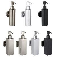 SUS Bathroom Soap Dispenser Liquid Shampoo Storage Bottle Box Wall Mount Holder