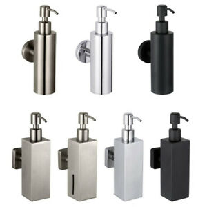 SUS Bathroom Soap Dispenser Liquid Shampoo Storage Bottle Box Wall Mount Holder