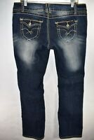 Angels Boot Cut Womens Jeans Stretch Size 17 Bootcut Meas. 34x31 Flap Pocket