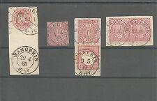Preussen V. / WANGERIN 2 K2 auf Pr. 1 Sgr.-Wappen-GAA, NDP 4, Briefstück NDP 16