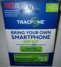 New Tracfone Bring Your Own Phone Sim Kit At&T Gsm Compatible trac phonE track