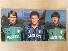 INTER 3 CARTOLINE CALCIO UFFICIALI 1989/90 BARESI ZENGA MALGIOGLIO AUTOGRAFATE