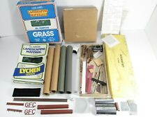 Ho Scale Model Plaster & Metal Building, Landscaping Materials & etc.As Is