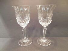 Two (2) Rogaska Crystal Maymont White Wine Glasses Gorgeous