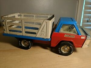 Vintage Nylint Farms Toy Truck with Bed Blue/ Red Nylint 400 Made in USA 17