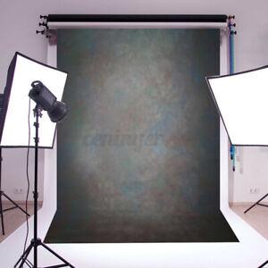 AUS 5x7FT Retro Black Gray Studio Photo Backdrop Photography Background Prop