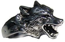 Quality WOLF HEAD RING #98  jewelry unisex MENS womens BIKER wild animal wolves