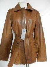 Andrew Marc Belted Lamb Leather Coat S Walnut Brown Style  NWT  New With Defects