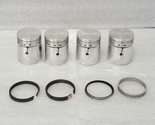 Jeep 134ci Sealed Power Lightning Hurricane 1941-73 Pistons Set/4 + Rings .030""