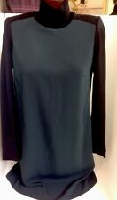 Costume National Dress Black Knit Silk Front Size 42