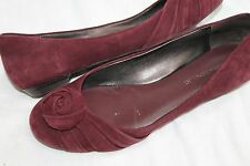 Banana Republic Wine Suede Leather Ballet Flats Shoes Size 7.5