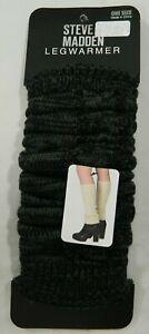 Steve Madden gray & black leg warmers one size NEW