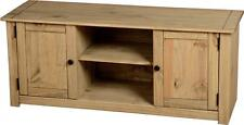 Panama 2 Door 1 Shelf Flat Screen TV Unit in Natural Wax - Free Delivery