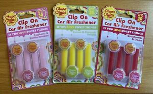 Chupa Chups Clip On Car Air Fresheners 4 pack - 3 scents available - Free P&P!