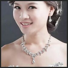 Wedding Jewellery Bridal Droplet Necklace Earring set Party Prom