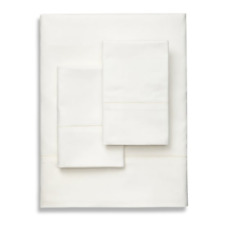 Brand New Frette Lux Percale Cotton Queen Sheet Set Ivory
