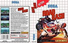 Road Rash Sega Master System Replacement Box Art Case Insert Cover Scan