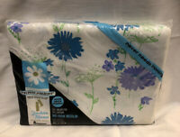 VINTAGE NOS Penneys Fashion Manor No-Iron Muslin Double Bed Sheet Floral 81x104
