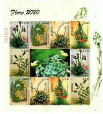 Kosovo Stamps 2020. Flora. Souvenir Sheet MNH