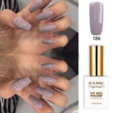 RS Nail Gel Nail Polish UV LED Sequined Varnish Soak Off UV Gel Colour 186 15ml