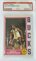 1974 Topps #55 Oscar Robertson NBA Milwaukee Bucks Basketball Card  PSA EX 5