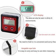Digital Inclinometer Spirit Level Box Protractor Angle Finder Gauge Meter Bevel