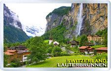 LAUTERBRUNNEN WATERFALL SWITZERLAND FRIDGE MAGNET SOUVENIR IMAN NEVERA