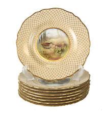 8 Spode Copeland China Game Bird Plates for Tiffany & Co Signed F Thompson c1900