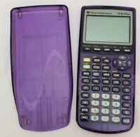 Texas Instruments TI-83 Plus Graphing Calculator Purple Battery Operated Tested