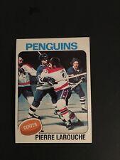 1975-76   TOPPS   HOCKEY   #305   PIERRE  LAROUCHE   (R)   NM-MT