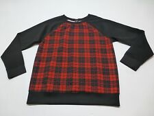 Timing Womens Size M Black & Red Plaid Polyester & Rayon Shirt New