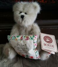 Boyd's Bears Plush Mia Good Friends Fabric Friend Flowers Button 903027