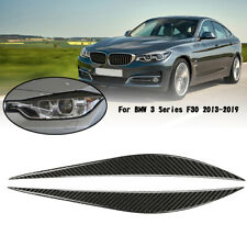 Front Headlight Eyelid Eyebrow Cover Trim Black For BMW 3 Series  F30 2013-2019