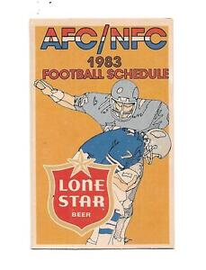 Lone Star beer NFL AFC NFC football schedule 1983