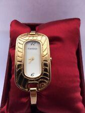 Fontenay della Francia Bracciale Rigido Donna Orologio al Quarzo 18 Carati Placcato Oro