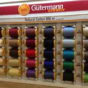 Gutermann Sewing Thread 100% Natural Cotton 800m Reels, 30 Colours, Free Postage