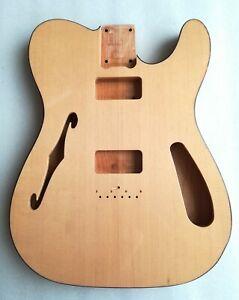 thinline 69 guitar body semi hollow spruce+maple fits tv jones pickups