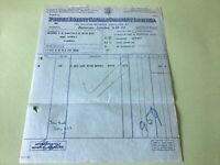 Prices patent Candle Company Battersea 1920s  London receipt Ref R32175