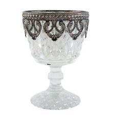 Clayre & Eef Windlicht,Teelicht, Bauernsilber Pokalglas