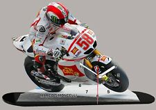 Model Cars,Moto GP, Marco Simoncelli -honda-01 with clock 11,8x 7,8 inches