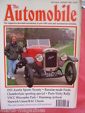 THE AUTOMOBILE 1991 AUGUST PARIS VICHY RALLY BSCC WISCOMBE PARK HANOMAG CYCLECAR