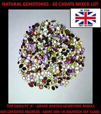 Gemstones 50 Carats - Mixed Lot Citrine, Amethyst, Garnet, Topaz, Peridot