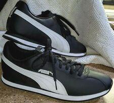 PUMA Classic TURIN Sneakers Black & White Men's Size 12 Soft Foam SUPER CLEAN