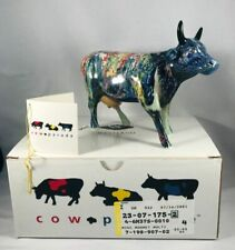 """Cow Parade Collectible """"Moonet"""" #9168 Retired Nib Mint In Box w/Tag Retired 2001"""