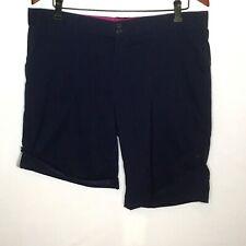 Cloudveil Womens Shorts XL Blue Stretch Roll Up Tab Hiking Casual
