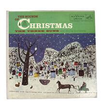 The THREE SUNS LP THE SOUNDS OF CHRISTMAS (1957) LPM-1132 Vinyl & Sleeve VG+